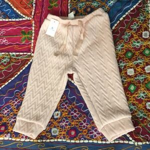 NWT Baby Gap joggers pink with gold sparkle 12-18M